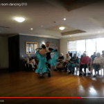 Screenshot of video featuring ballroom dancing