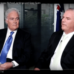 Screenshot of video featuring Richard Jenkins and Greg Gunn