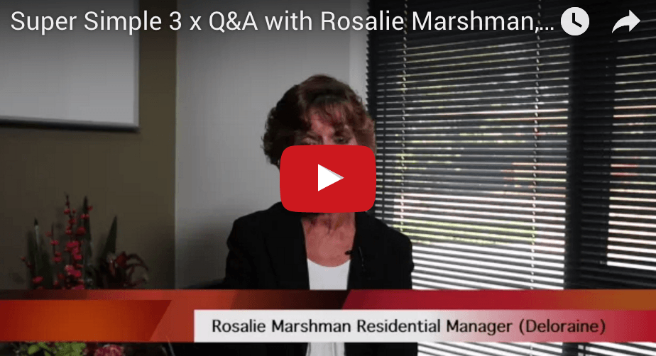 Screenshot of video featuring Rosalie Marshman