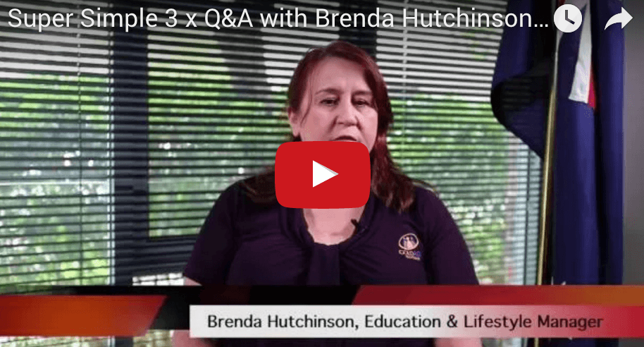 Screenshot of video featuring Brenda Hutchinson
