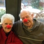 Red Nose Day 2016 couple hugging